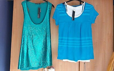 L@@k Twin Pack Nwt Size 18 Summer Hols  Assorted 2In1Tunic & Glitzy Top Bundle