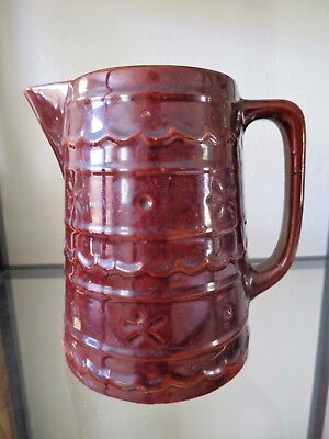 Antique Vintage Marcrest Oven Proof Stoneware Daisy Dot Large Pitcher