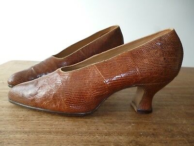 VINTAGE / ANTIQUE 1920s SNAKESKIN SHOES BRAND NEW NEVER WORN RANDALL'S SIZE 4?