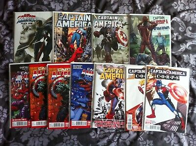 10 x Captain America Marvel Comics