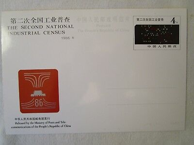 Timbres Chine Stamps China carte pré-affranchie pre-stamped card 1986