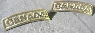 Wwi Canadian Canada Tunic Jacket Block Type Enlisted Nco Shoulder Title