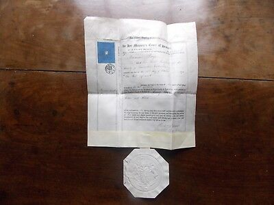 Letters of Administration Thomas Page 1875 Liverpool Probate Registry Big Seal