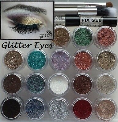 Cosmetic Glitter 5ml pots for GLITTER EYES for use with a FIX GEL - GLITTER ONLY