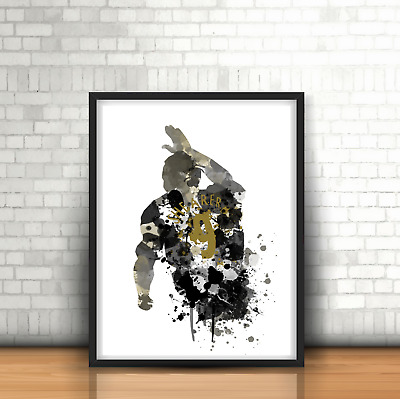 Alan Shearer- Newcastle United Inspired Football Art Print Design NUFC Number 9