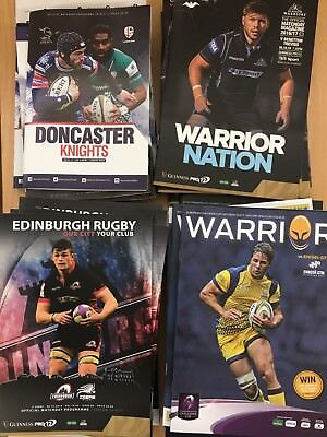 16/17 50x Rugby Union Programmes
