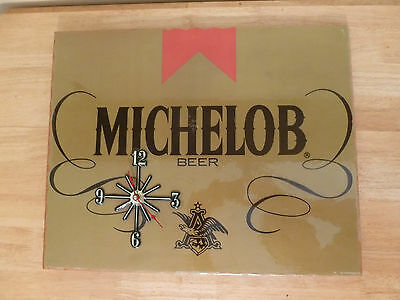 "Rare Vintage 1987 MICHELOB Beer Clock Sign 19 7/8"" X  16"""