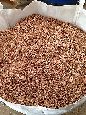 Western Red Cedar Wood Garden Chippings Mulch Chips Landscaping Bark Weed Chip