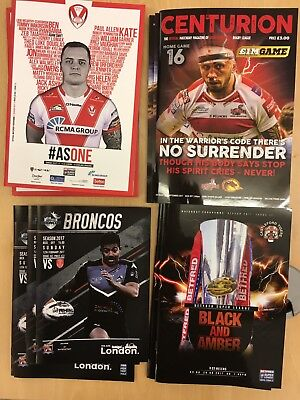 2017 50x Rugby League Programmes