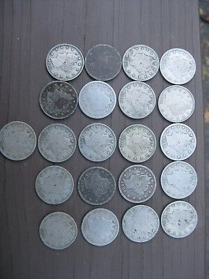 Lot Of 21 Liberty Head Nickels