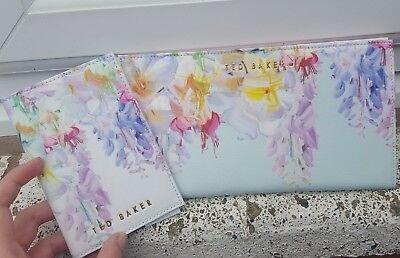 Ted Baker Hanging Gardens Travel Wallet Purse + Passport Holder NEW