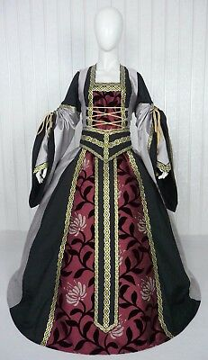 Medieval Renaissance Tudor Wedding Handfasting Larp Gown Dress Costume (25D)