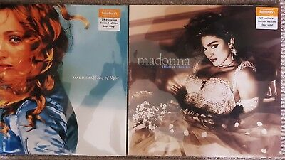 Madonna-Like A Virgin & Ray Of Light Clear/blue Vinyl L.p's Sainsburys Exclusive