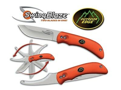 Outdoor Edge SwingBlaze Blaze-Orange | Flipping Skinning Knife and Gutting Blade