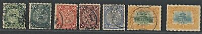A selection of mint and used early Chinese stamps, mixed condition (5)
