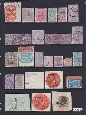 Selection of GB Revenue Fiscal Stamps (Some damage to all, treat as space filler