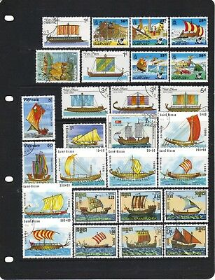 Asterix the Gaul on mint Guernsey stamps + Ancient sailing ships on fine used