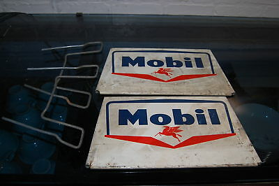 Vintage Mobil Oil Pegasus Tire Display Rack 2 Sided Original Gas Station Item