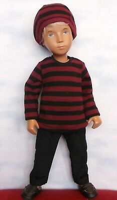 BRAND NEW-Striped Top , Hat & Trousers Set fits Gregor & Sasha Doll