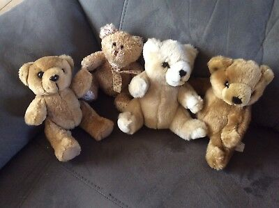 Lot 4 Peluches Ours