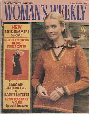 Woman's Weekly Magazine October 1976 - Knitted Bedjacket With Crochet Edges