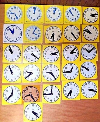 Learning Resources Class Instruction Student Mini Clocks Telling Time Math # 25