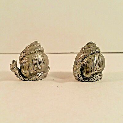 Pewter Thimbles Pair of Snails