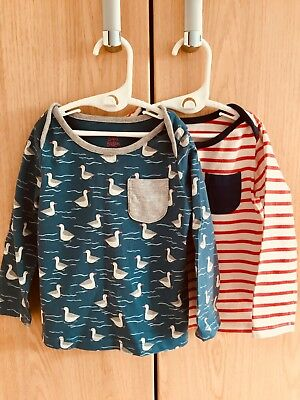 Body Baby Boy Twin Pack Fun Long Sleeved T-Shirts 18-24 Months