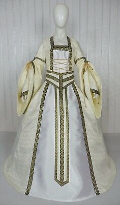 Medieval Renaissance Tudor Wedding Handfasting Larp Gown Dress Costume (25K)