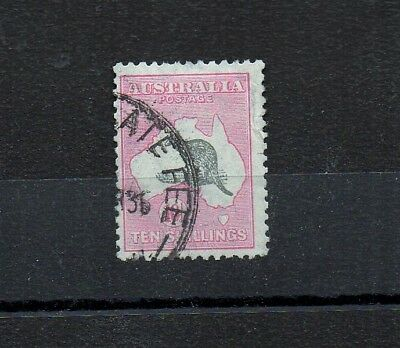Australia 1932,10/- Grey & Pink. Sg 136 Fine Used   Sg136. Late Fee.