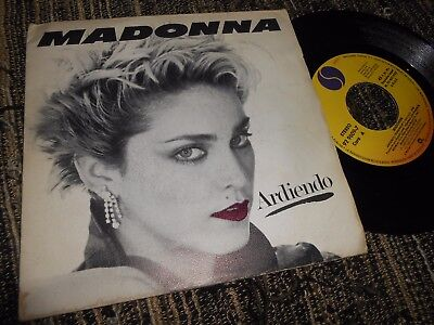 """MADONNA Ardiendo Burning Up/Physical Attraction 7"""" 1983 SPAIN *RARE*"""
