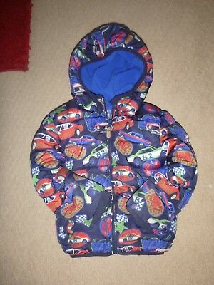 Boys next puffa coat age  2-3 years  cars design