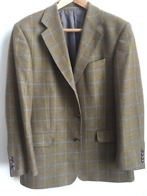100% Cashmere Mens 42R Check Jacket from Johnstons of Elgin
