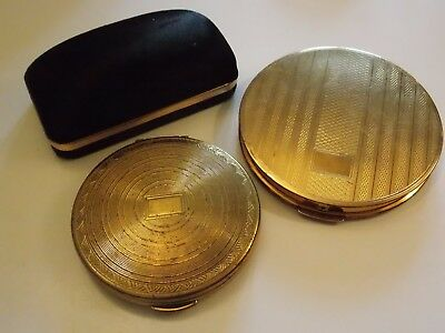 Vintage STRATTON Powder Compact & Boxed Tie Pin Plus DARLING Compact - 3 Items