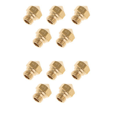 10x 3D Printer Extruder Brass Nozzle Printhead for MK10 1.75mm Printer 0.4mm