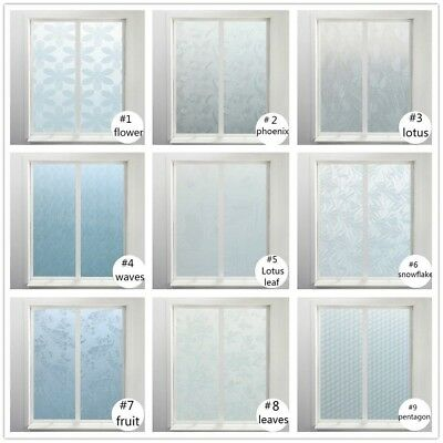 Bedroom Bathroom Sticker Glass Window Film Door PVC Opaque Floral 200x45cm New
