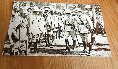 Reproduced 1920s Postcard - Prince Edward Visiting Maimed WW1 Soldiers BOMBAY