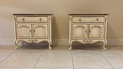 Gorgeous Drexel Touraine French  Country Nightstands