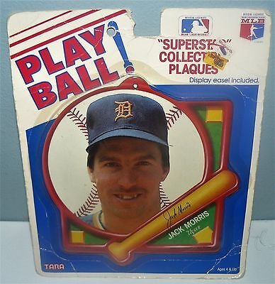 Playball Superstar Collectible Mlb Plaque Jack Morris Detroit Tigers