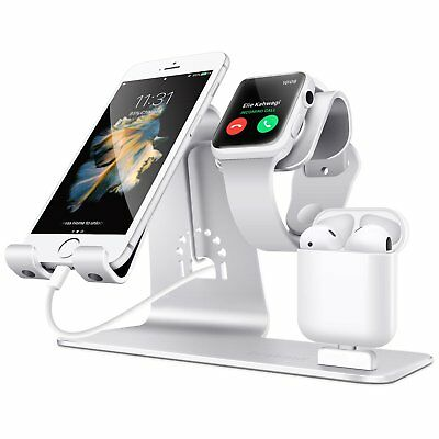 Watch Stand Charging Dock Holder For iWatch iPhone & Airpods Aluminum Alloy