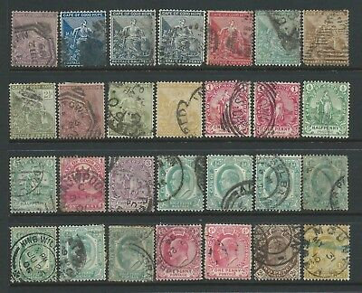 Collection of mostly good used Cape of Good Hope stamps.