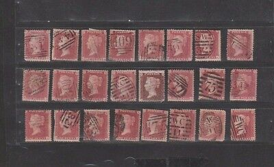 #19 Great Britain Postage Used Stamp One Penny Red Queen Victoria Great Lot