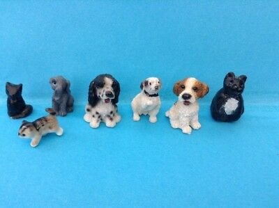 1:12 Scale Dolls House Miniature Resin Animals Pets - Cats, Dogs, Rabbit