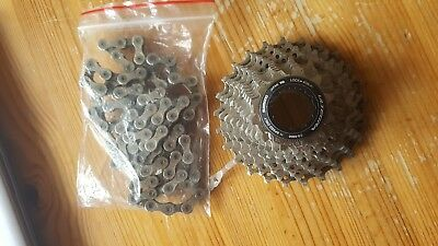 shimano ultegra 6800 11 - 28t cassette and chain 11 speed