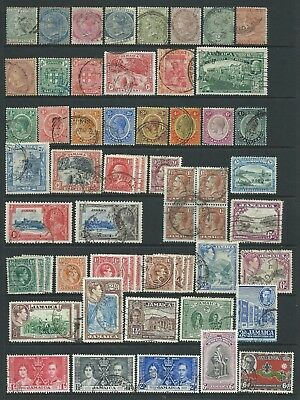 Collection of mostly good used Jamaica  stamps.