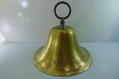 RARE OLD 20.2 cm. DIAMETER BRASS BELL WITH A LONG, LOUD AND CLEAR RING