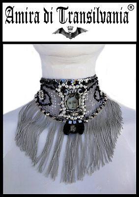 bijoux hand madein Italy jewels accessories collar macramè couture made fashion