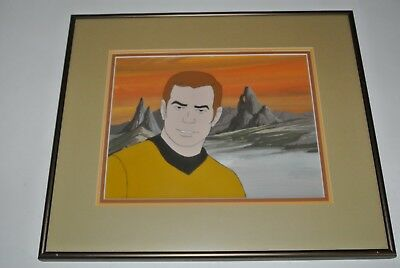 Star Trek CAPTAIN KIRK Original Production Animation Cel Framed & Triple Matted