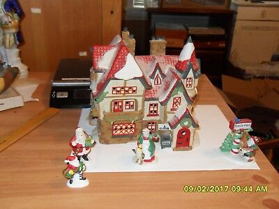 North Pole series SANTA'S WORKSHOP with elves and Mr. and Mrs. Santa