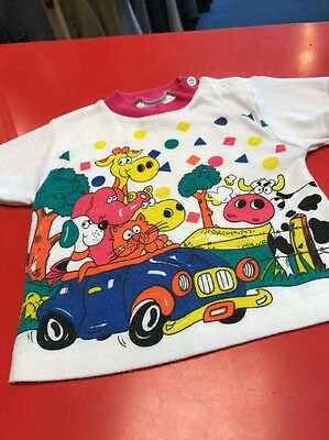 Girls Vintage Character T Shirt Top Age 12 Months